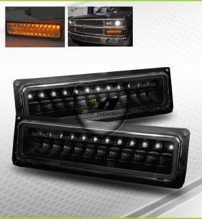 GMC Suburban Sierra Yukon Black Full LED Bumper Lights