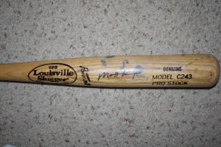 MATT KEMP SIGNED AUTOGRAPHED GAME USED BASEBALL BAT DODGERS CRACKED