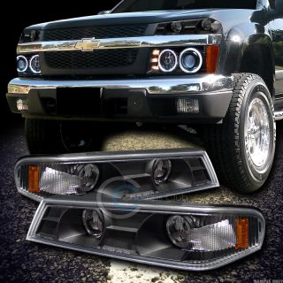 LENS SIGNAL BUMPER CORNER LIGHTS LAMPS 04 12 CHEVY COLORADO/GMC CANYON