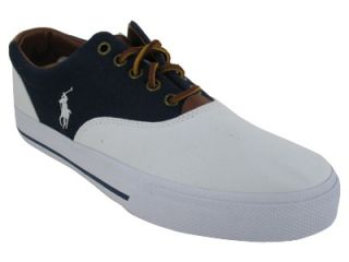 POLO RALPH LAUREN VAUGHN SADDLE CANVAS/LEATHER CASUAL SHOES