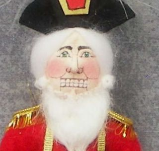 1989 Gladys Boalt Handmade Nutcracker Christmas Ornament The