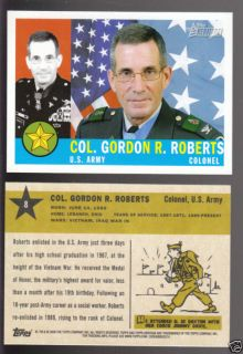 Col Gordon R Roberts 2009 Topps Heritage Card 8