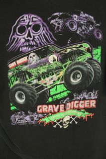 Grave Digger Monster Jams Truck 20th Anniversary Black 2002 T Shirt
