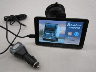 Cobra 5550 PRO Automotive In Dash GPS Receiver (Truck/Tractor Trailer