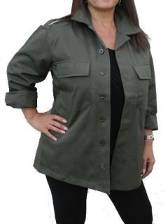 MILITARY ARMY VINTAGE SHIRT JACKET KHAKI F2 LADIES WOMENS ♥ 6 8