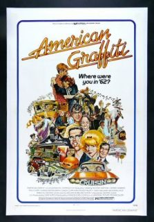 American Graffiti CineMasterpieces Linen Backed 1sh Original Movie