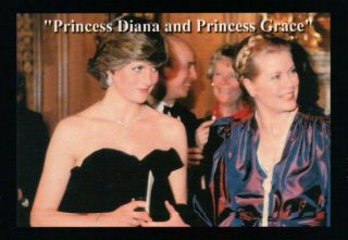 Princess Grace of Monaco and Princess Diana     Trading Card, Not a