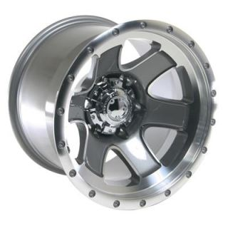 Summit Racing Nomad Diamond Cut Wheel 15x10 6x5 5 Set of 4