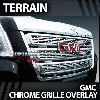 2010 2013 GMC Terrain Triple Chrome Grille Overlay