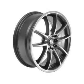 Summit Racing F10 Gray with Diamond Cut Wheel 17x7 5x110mm BC Set of