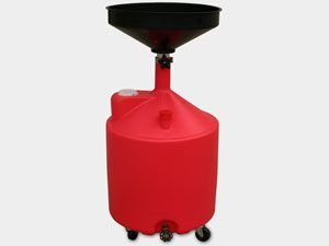 18 Gallon Oil Drain Portable Casters Plastic Drain