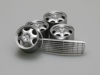Mercedes Benz W140 Late Type Wheel and Grill for Tamiya 600SEL