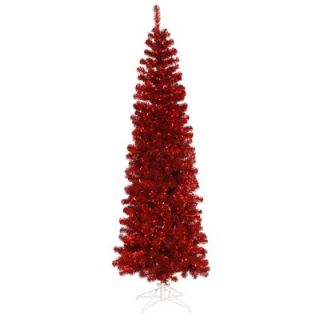 Vickerman 10 Artificial Pencil Christmas Tree in Red