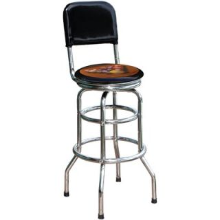 On The Edge Marketing Pool 30.5 Chrome Swivel Barstool