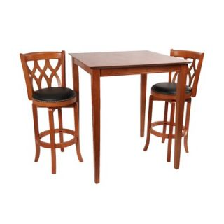 Boraam Florence Pedestal Pub Table in Cappuccino