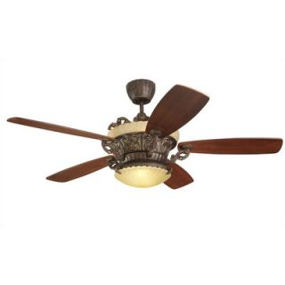 Monte Carlo Fan Company 56 Strasburg 5 Blade Ceiling Fan with Remote