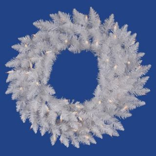 Vickerman Crystal White Spruce 60 Wreath with Clear Lights