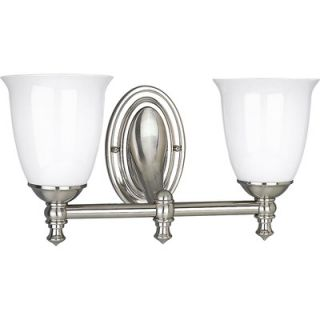 Progress Lighting Victorian Brushed Nickel Wall Sconce   P3028 09