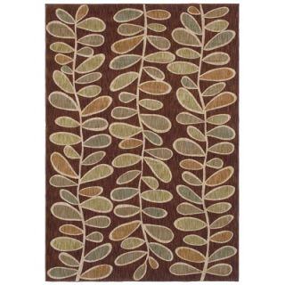 Angela Adams Fern Dark Brown Rug   3V7 07710