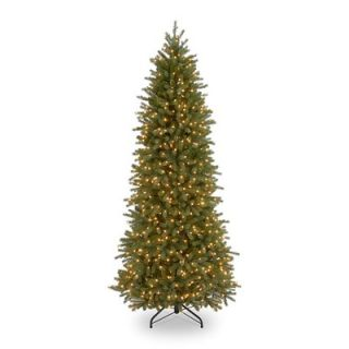 National Tree Co. Jersey Fraser Fir Pre Lit 7.5 Pencil Slim Tree