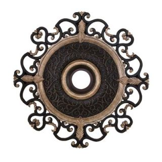 Minka Aire Napoli 38 Ceiling Medallion in Sterling Walnut   CM7038