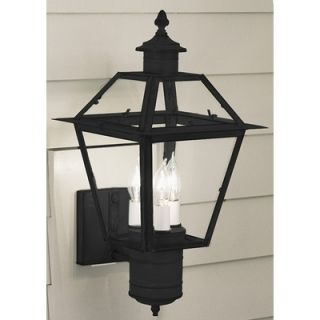 Norwell Lighting Lexington Three Light Outdoor Wall Mount Lantern in