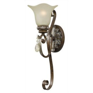 World Imports Lighting Dressy Casual Wall Sconce in Oxide Brass with