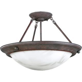 Progress Lighting Eclipse 2 Light Semi Flush Mount   P3483 33