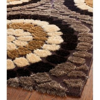 Safavieh Miami Shag Brown/Multi Rug   SG357 2591