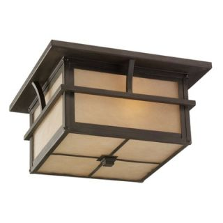 Sea Gull Lighting Medford Lakes Outdoor Flush Mount in Statuary