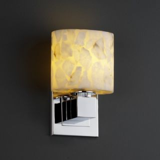 Justice Design Group Alabaster Rocks Aero One Light ADA Wall Sconce