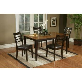 Alpine Furniture Berkeley 5 Piece Two Tone Dinette Table