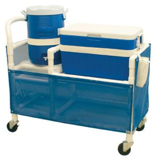 Hydration Cart with 48 Quart Ice Chest, 5 Gallon Water Cooler and Side