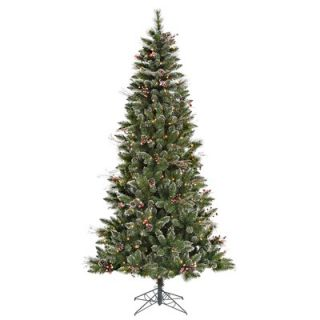 Vickerman 7 Snowtip Berry/Vine Artificial Christmas Tree with Clear