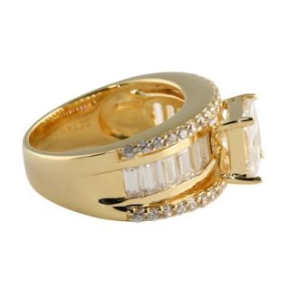 Palm Beach Jewelry 18k Gold/Silver Cubic Zirconia Ring