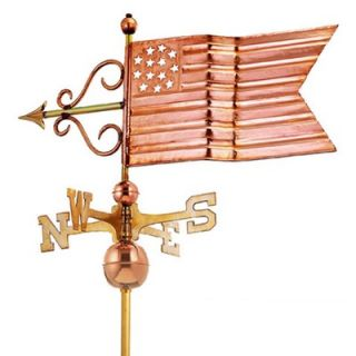 Good Directions Full Size Weathervane American Flag in Polished