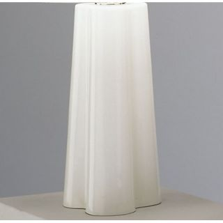 Robert Abbey Wavy Table Lamp in White Cased Glass