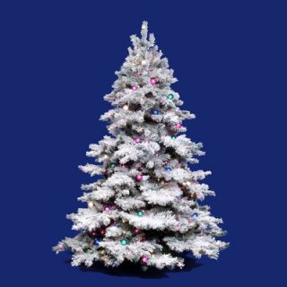 Vickerman Flocked Alaskan 4.5 Artificial Christmas Tree with Clear