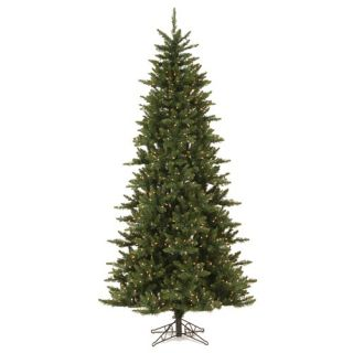 Camdon Fir 6.5 Artificial Slim Christmas Tree with Multicolored Li