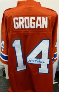 Steve Grogan Autographed New England Patriots Throwback Jersey NFL