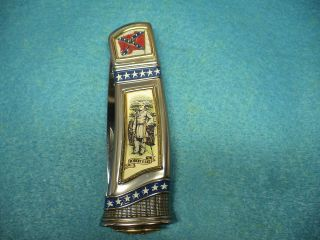 Vintage Franklin Mint Civil War Collectors Knife General Robert E Lee