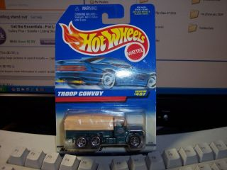 HotWheels #487 Troop convoy 1 MIB 5 loose army truck transport cargo