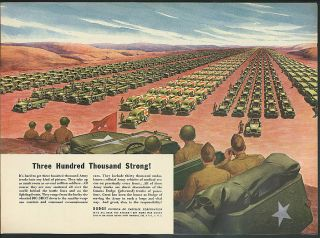 Three hundred thousand strong Dodge Army Truck Fleet ad 1944