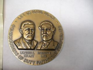 Civil War Ulysses s Grant Robert E Lee Medal 2 1 2 Medallic Art Co N