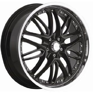 Menzari Inferno 17x8 Black Wheel / Rim 5x4.5 with a 42mm Offset and a