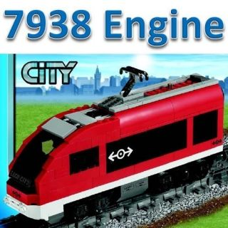 Lego Train City Passenger Red High Speed Engine Motor Railway Set from