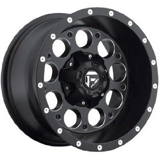 Fuel Revolver 20x10 Black Wheel / Rim 8x170 with a  12mm Offset and a
