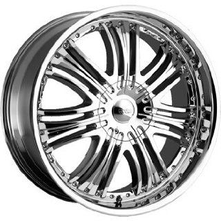 Cruiser Alloy Reflection 22x9.5 Chrome Wheel / Rim 5x5.5 with a 38mm