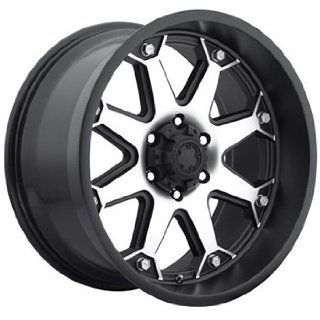 Ultra Bolt 18x10 Machined Black Wheel / Rim 5x5 with a 0mm Offset and