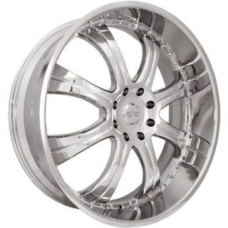 Starr Goliath 28 Chrome Wheel / Rim 5x5 with a 25mm Offset and a 78.1
